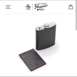 Penguin Originals POCKET FLASK & CARD HOLDER